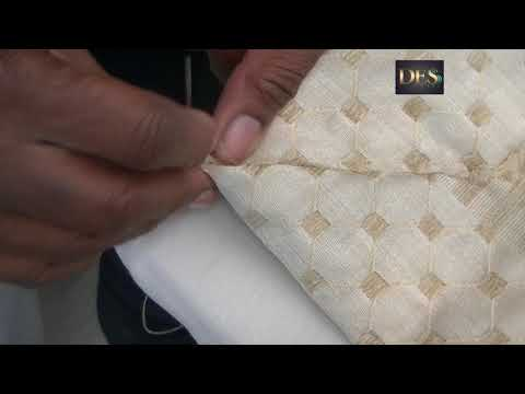 How to make pinch pleat curtain parts 2