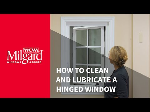 How to Clean a Hinged Window and Lubricate Hardware