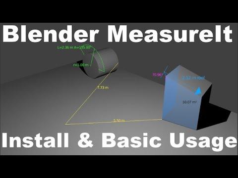 Measureit Blender, Install & Basic Usage