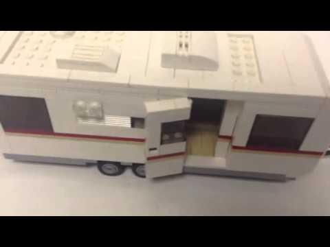 Lego travel trailer and car moc