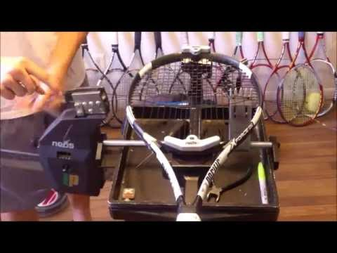 How to String A Tennis Racquet - Stringing a Pacific X Force