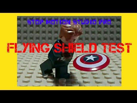 LEGO Captain America's shield - flying animation test | LEGO Stop motion
