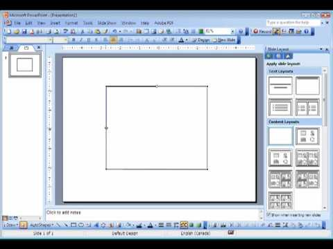 Creating a new shape in PowerPoint 2003
