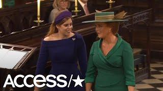 Princess Beatrice & Sarah Ferguson Look Radiant As They Arrive At Princess Eugenie