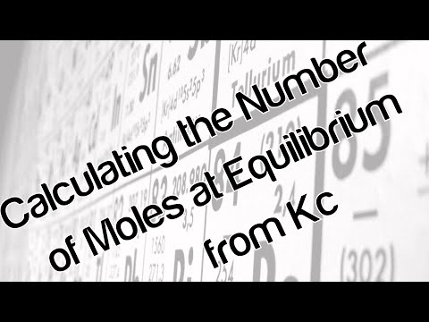Calculating the number of moles at equilibrium from Kc