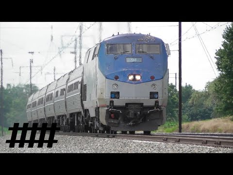 Amtrak Pennsylvanian 42 P42DC 94 at Irishtown Road Removed Railroad Crossing MP 59.2