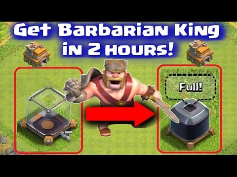 Clash of Clans - How to Get Barbarian King Fast in 2 Hours! TownHall7 Farming Attack Strategy Guide
