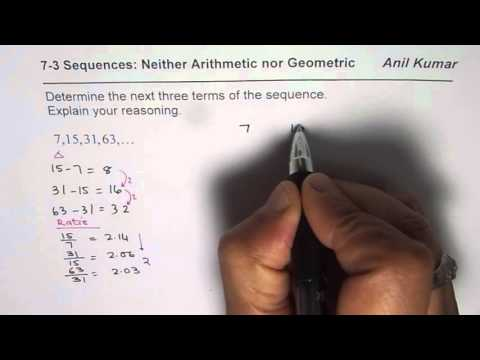 How to Find Next Number is Sequence Neither Arithmetic nor Geometric