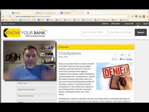 How to get your ChexSystems report for free
