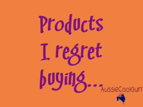 Make-up products I regret buying....