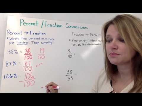 Fractions Decimal and Percent Conversions