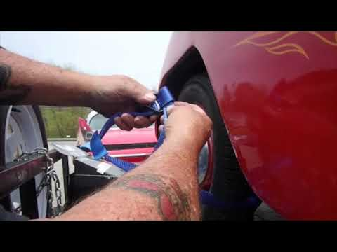 Premium Lockdown Ratchet Tire straps for the Crosley