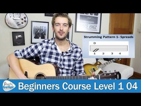 Beginners Strumming lesson 1 - The Beat (Beginner Guitar Course Level 1 lesson 4)