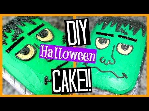 DIY HALLOWEEN CAKE | Frankenstein!! (Super Easy)