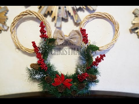DIY Minnie Mouse Christmas Wreath! Dollar Tree DIY