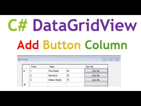 C# DataGridView : Add Buttons In Columns