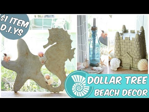 DOLLAR TREE BEACH HOME DECOR EASY D.I.Y TUTORIAL