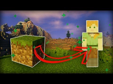 TRANSFORM INTO a BLOCK in Minecraft! (no mods!)