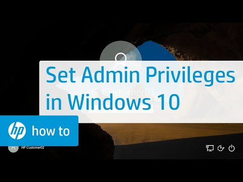 Setting Administrator Privileges in Windows 10 on HP Computers
