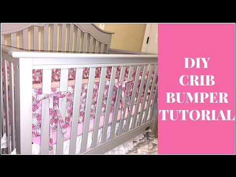 DIY Crib Bumper Tutorial under $11.00!