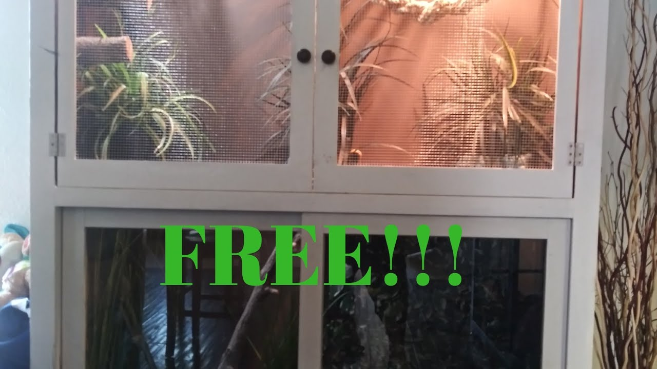 How to build reptile enclosure out of FREE cabinet |Perfect for Bearded dragons, iguanas, tegu