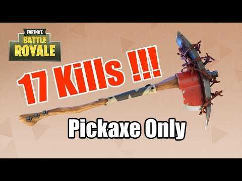 17 KILLS Using PICKAXE ONLY !!! FORTNITE Battle Royale in MCPE