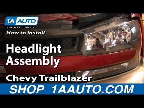 How To Install Repair Replace Headlight Assembly Chevy Trailblazer 02-05 1AAuto.com