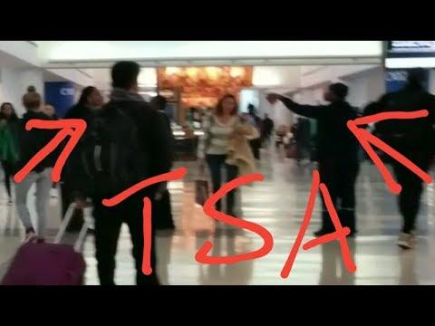 TWO NEW YORK TSA EMPLOYEES FIGHTING