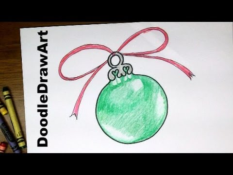 Drawing: How To Draw a Christmas Tree Ornament - Easy Drawing Lesson for Beginners or Kids