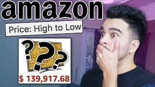 Buying THE MOST EXPENSIVE Things On Amazon! 100% RANDOM PRODUCT CHALLENGE! 💵💵💵