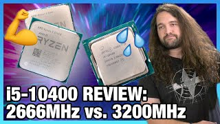 Do Not Buy: Intel i5-10400 CPU Review & Benchmarks vs. 3300X, 3600, 10600K (ft. 2666 & 3200 RAM)