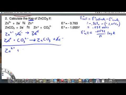Calculating Ksp of Zinc Carbonate using electrode potentials