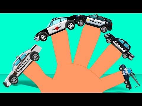 Police Finger Family | Vehicles Song | Nursery Rhyme for Children