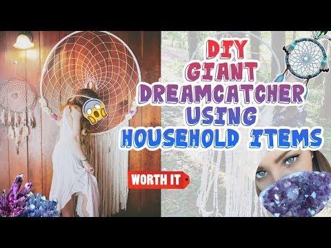 DIY GIANT Dreamcatcher | Using Household Items | Bedroom Ideas! EASY!