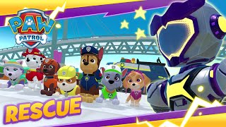 PAW Patrol Mighty Pups VS GIANT ROBOT! Cartoon and Game Rescue PAW Patrol Official & Friends