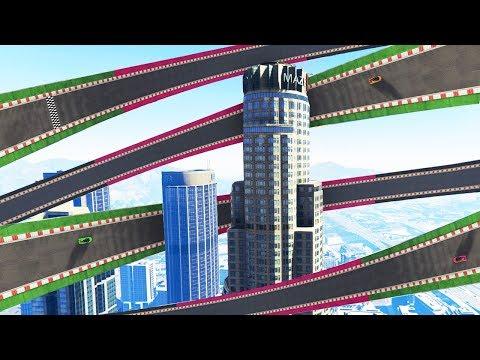 WORLD'S BIGGEST WALLRIDE EVER CREATED! (GTA 5 Race)