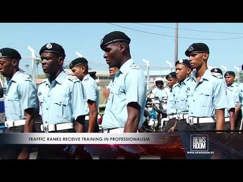 TRAFFIC RANKS RECEIVE TRAINING IN PROFESSIONALISM