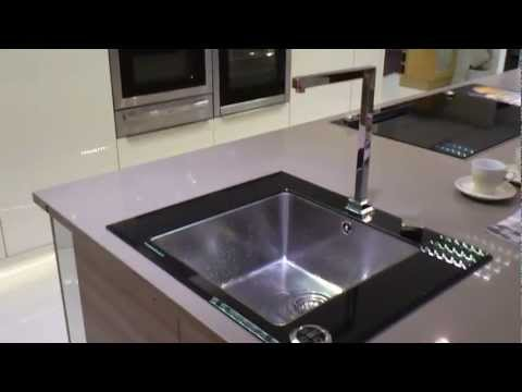 World Exclusive Kuppersbuch NEW Electronic glass and stainless steel sink