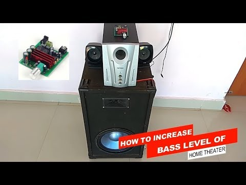 How To Increase Bass Level Of Home Theater By Using Subwoofer Amplifier TPA3116D2