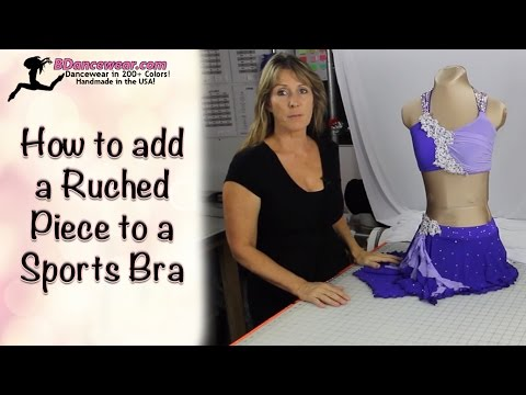 How to add a Ruched Piece to a Sports Bra