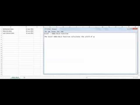 Excel ODDLYIELD function - how to use ODDLYIELD function
