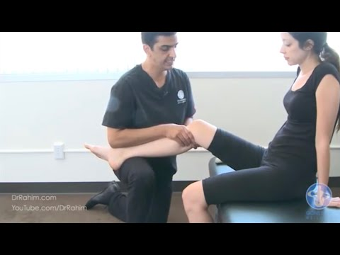 Gonstead Knee Analysis and Adjustment Review by Dr. Rahim Gonstead Chiropractor