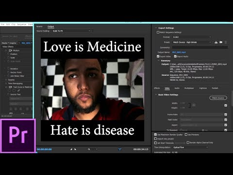 How to make Square Video for FB and Instagram in Adobe premiere pro 2017