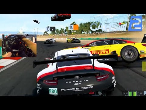 Cars Are FLYING Online?? Project Cars 2 FINALLY BACK w/918 Fanatec Wheel