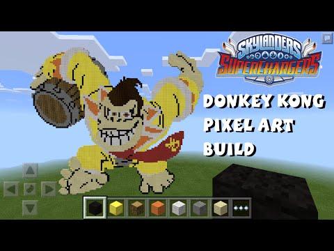 Donkey Kong Skylanders Superchargers Pixel Art - Minecraft Pocket Edition