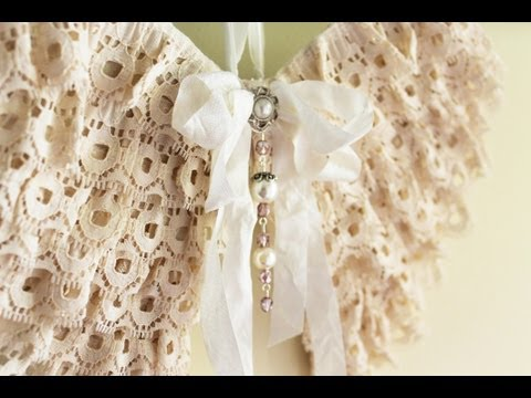Shabby Chic Angel Wings and Mini Tussie Mussies