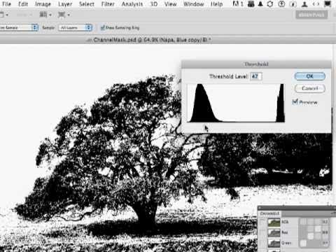Photoshop CS5 Tutorial - Introduction to Alpha Channels and Layer Masks