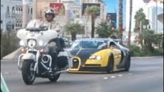 BUGATTI SHUTS DOWN VEGAS STRIP (COPS!)