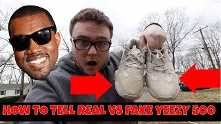 online retailer 81860 7d5a3 HOW TO TELL REAL VS FAKE ADIDAS YEEZY 500! - getplaypk
