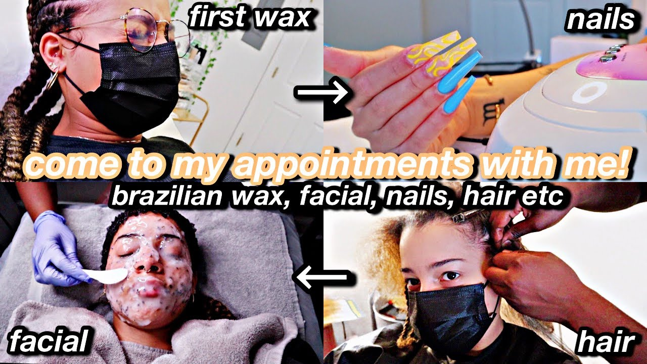 come to my appts with me! BRAZILIAN wax, facial, nails, hair etc. | Azlia Williams